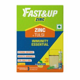 Fast&Up Zinc With Tulsi Effervescent (Lime & Lemon), 30 Tablets