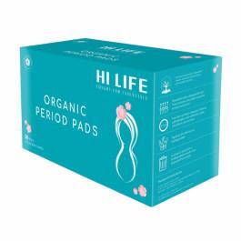 Hi Life Rash-free, Leak-proof Organic Sanitary Pads for Heavy Flow, 30 Pieces