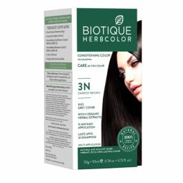 Biotique Bio 3N Darkest Brown Herbcolor, 50gm + 110ml