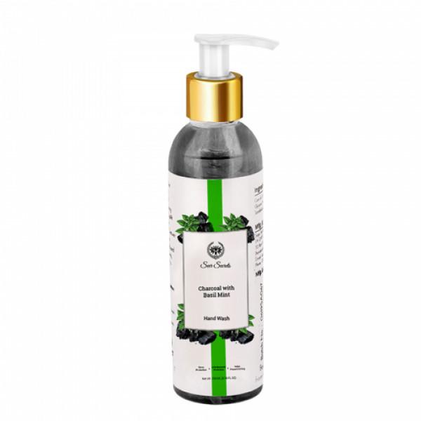 Seer Secrets Charcoal with Basil Mint Hand Wash, 200ml