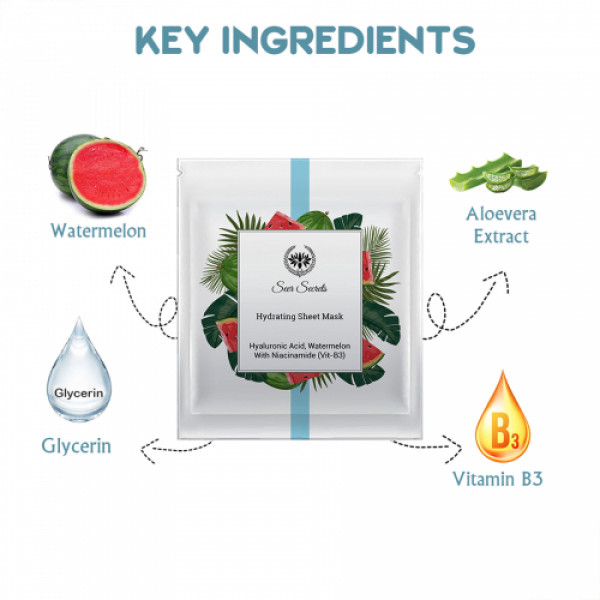 Seer Secrets Hydrating Sheet Mask For Moisturise and Nourishment, 24gm