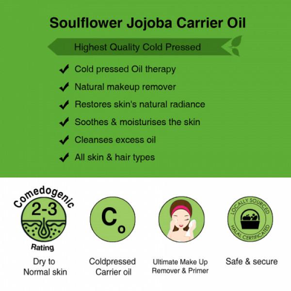 Soulflower Coldpressed Jojoba Carrier Oil, 30ml