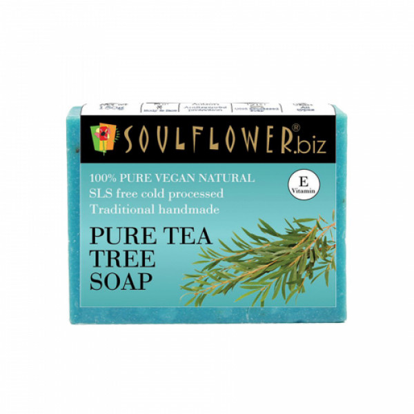 Soulflower Pure Tea Tree Soap, 150gm