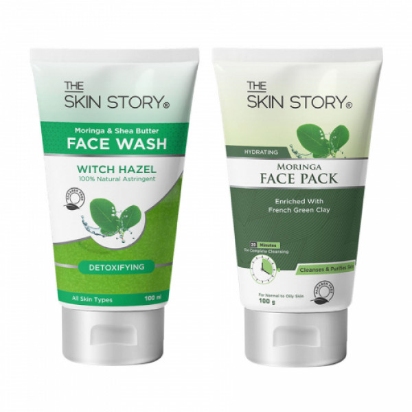 The Skin Story Moringa Care Face Wash & Face Pack Combo