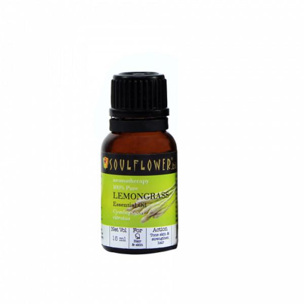 Soulflower Lemongrass Essential Oil, 15ml
