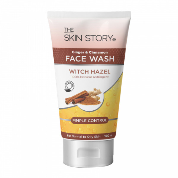 The Skin Story Ginger & Cinnamon Pimple Control Facewash, 100ml