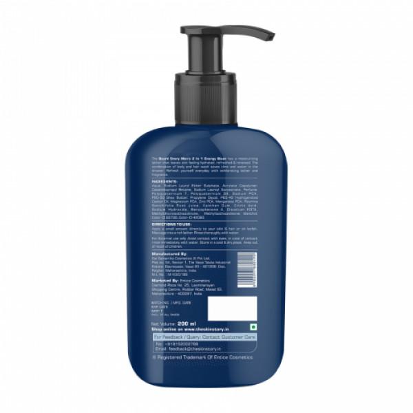 The Beard Story Mens 2-in-1 Energy Blast Hair & Body Wash, 200ml