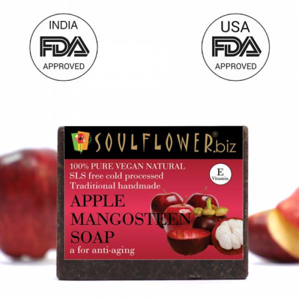 Soulflower Apple Mangosteen Soap, 150gm