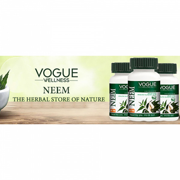 Vogue Wellness Neem, 60 Tablets