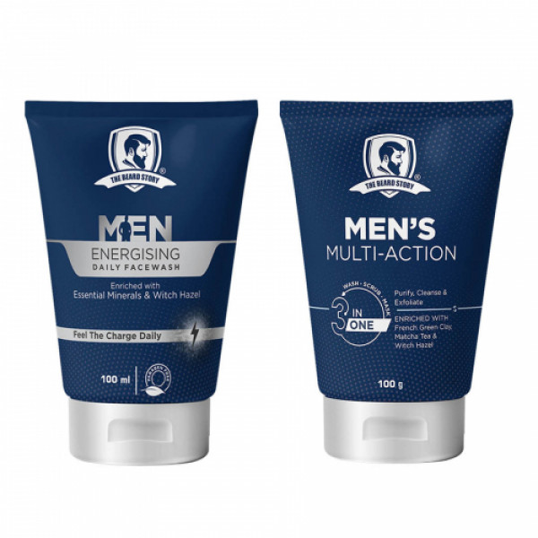 The Beard Story Face Care Face Wash & Face Scrub Combo Pack