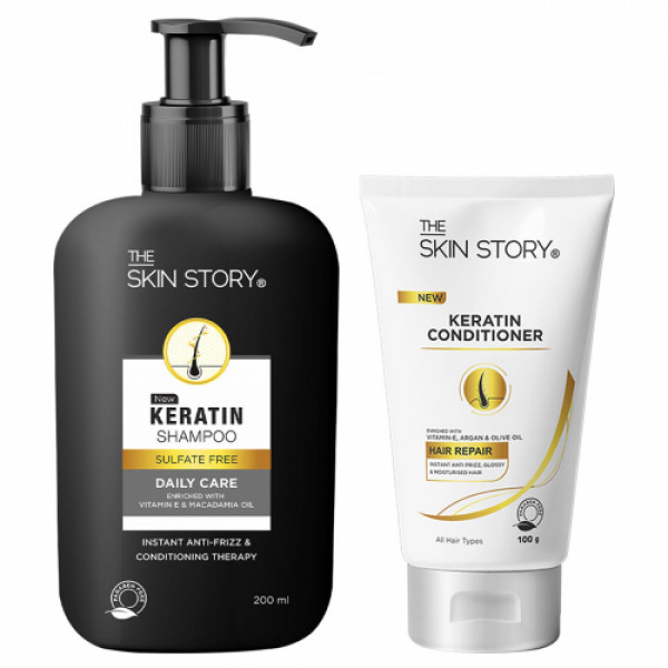 The Skin Story Sulphate & Paraben Free Keratin Hair Care Duo