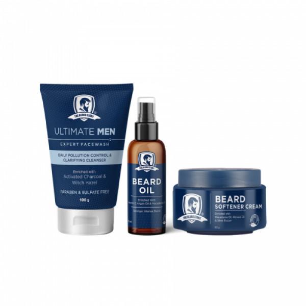 The Beard Story Best Beard Care Beard Oil, Beard Cream & Men Mace Wash Combo