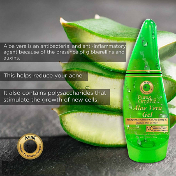 Avnii Organics Pure Aloe Vera Gel, 120ml