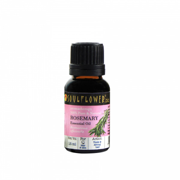 Soulflower Rosemary Essential Oil, 15ml