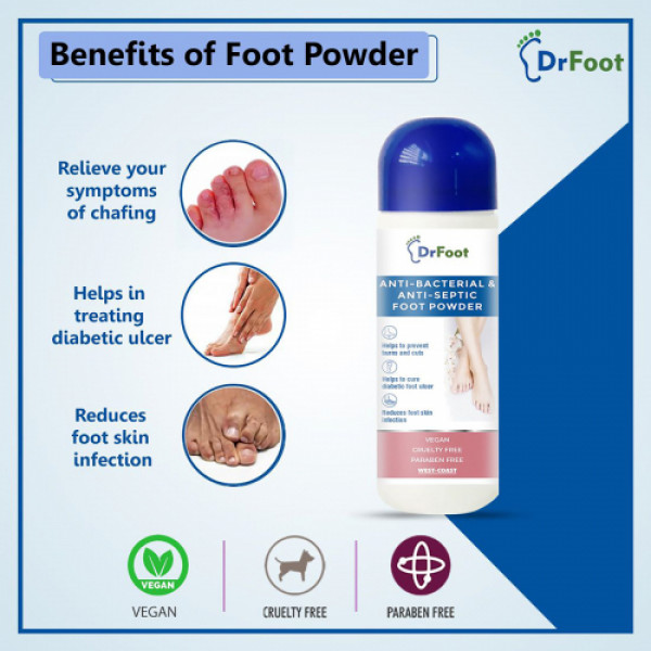 Dr Foot Antibacterial & Antiseptic Foot Powder, 100gm