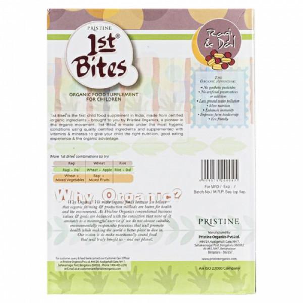 Pristine 1st Bites Organic Ragi & Dal Baby Cereal Stage 2, 300gm