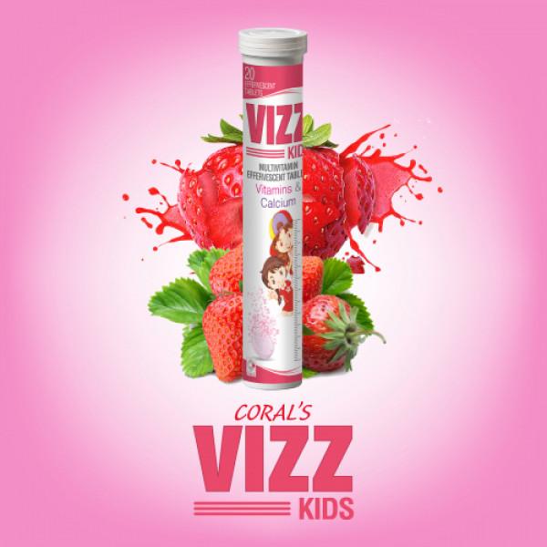Coral's Vizz Kid Multivitamin Effervescent, 20 Tablets