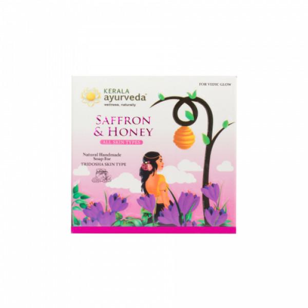 Kerala Ayurveda Natural Handmade Saffron & Honey Soap, 125gm
