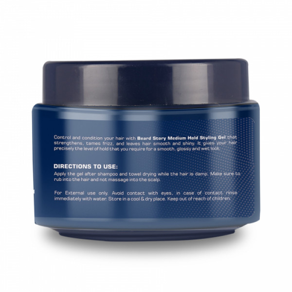 The Beard Story Hair Styling Medium Hold UV Protection Gel, 100gm