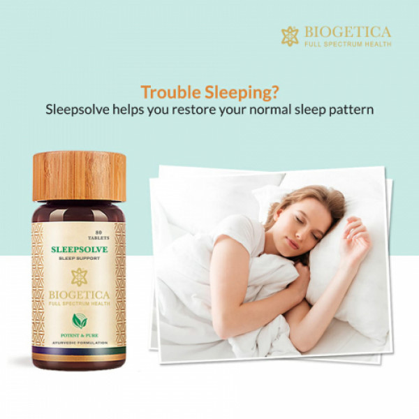 Biogetica SleepSolve - Sleep Support, 80 Tablets