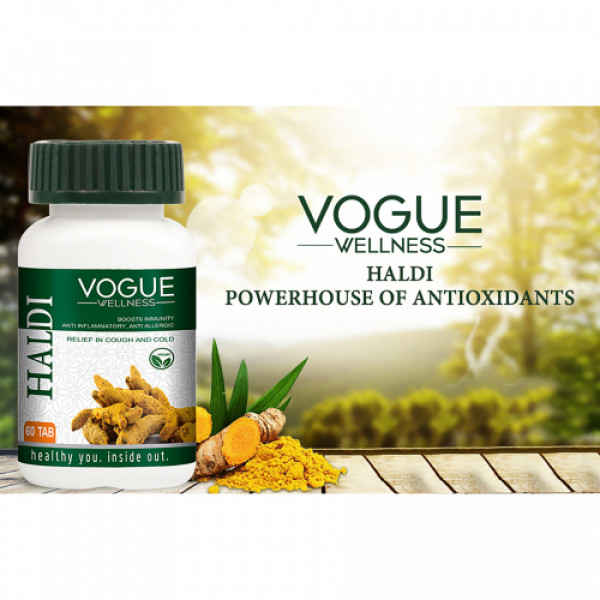 Vogue Wellness Haldi, 60 Tablets