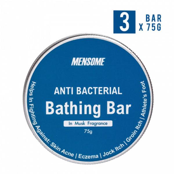 Mensome Anti Bacterial Bathing Bar, 75gm (Pack Of 3) - Musk Fragrance