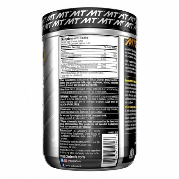 Muscletech Platinum Citrulline Malate Plus Supplement, 492gm