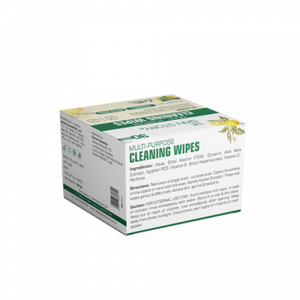 The Skin Story Multi Purpose Cleaning Wipes With 70 % Alcohol, 60 Wipes (Pack of 2)