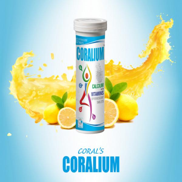 Coral's Coralium Calcium and Vitamin Effervescent, 20 Tablets