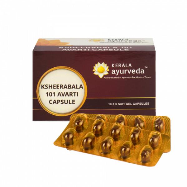 Kerala Ayurveda Ksheerabala 101 Avarti, 100 Capsules