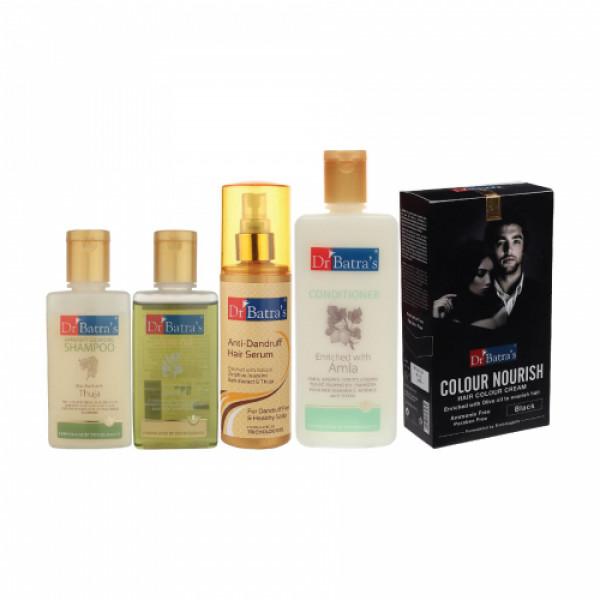 Dr Batra's Anti Dandruff Hair Serum, Conditioner, Hair Oil, Shampoo with Nourish Hair Colour Cream