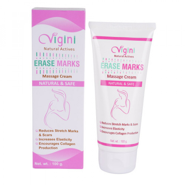Vigini Natural Actives Erase Marks Massage Cream, 100gm