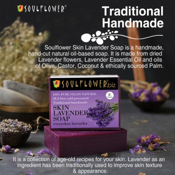 Soulflower Skin Lavender Soap, 150gm