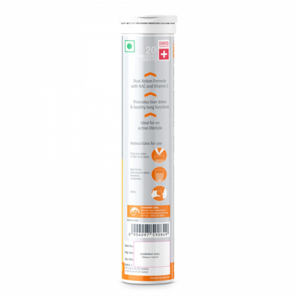 Fast&Up NAC - Acetylcysteine Effervescent (Strawberry), 20 Tablets