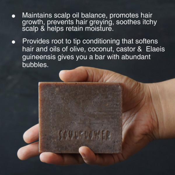Soulflower Reetha, Coconut Milk Hair Cleansing Bar Soap, 150gm