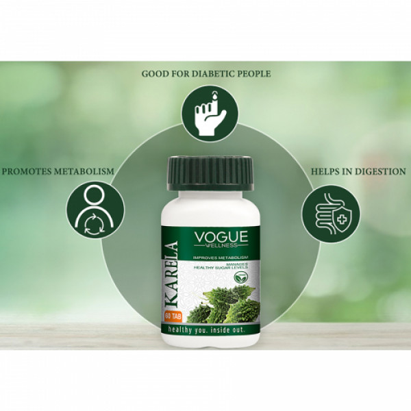 Vogue Wellness Karela, 60 Tablets