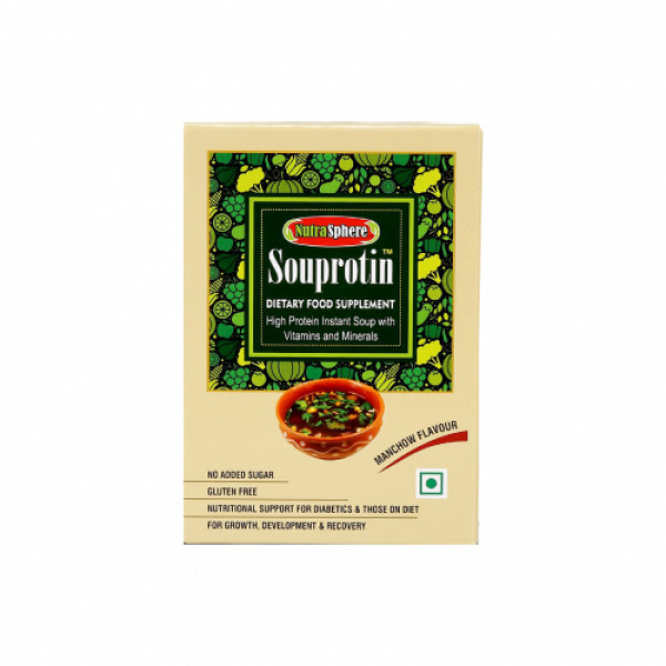 Nutrasphere Tangy Tomato and Manchow Instant Protein Soup Mix With Vitamins and Minerals, 6 Sachets (Pack of 2)