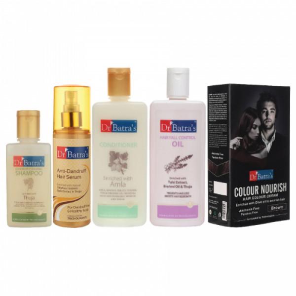 Dr Batra's Anti Dandruff Hair Serum, Conditioner, Hair  Oil, Hair Colour Cream with Shampoo