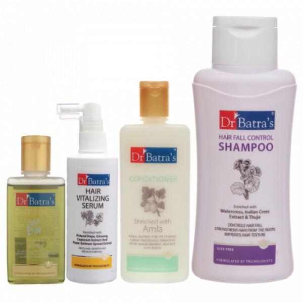 Dr Batra's Hair Vitalizing Serum, Hair Oil, Conditioner with Hair Fall Control Shampoo