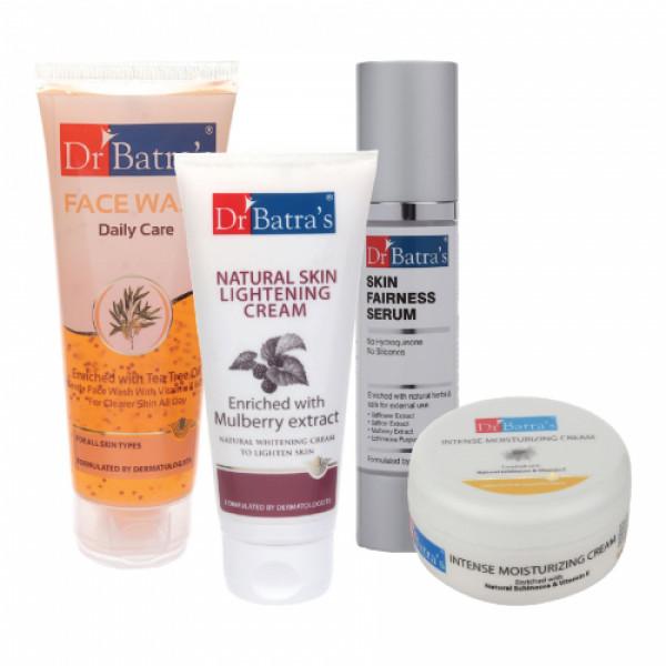 Dr Batra's Skin Serum, Face Wash Daily Care, Cream with Intense Moisturizing Cream
