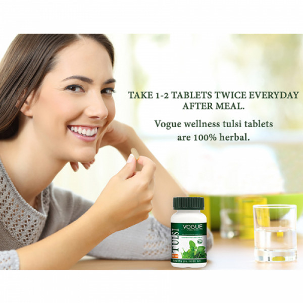 Vogue Wellness Tulsi, 60 Tablets