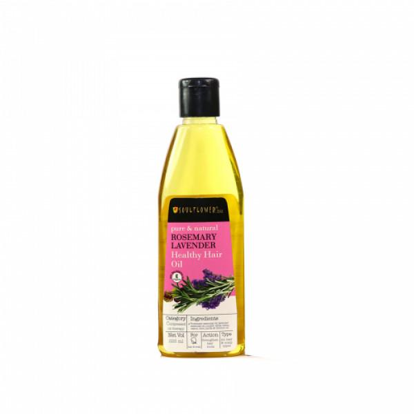 Soulflower Rosemary Lavender Healthy Hair Oil, 225ml