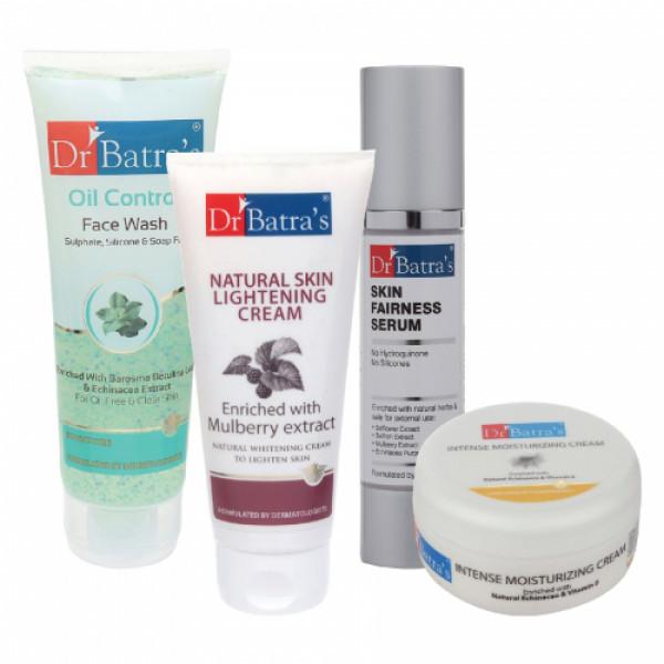 Dr Batra's Skin Serum, Face Wash Oil Control, Natural Skin Cream with Moisturizing Cream