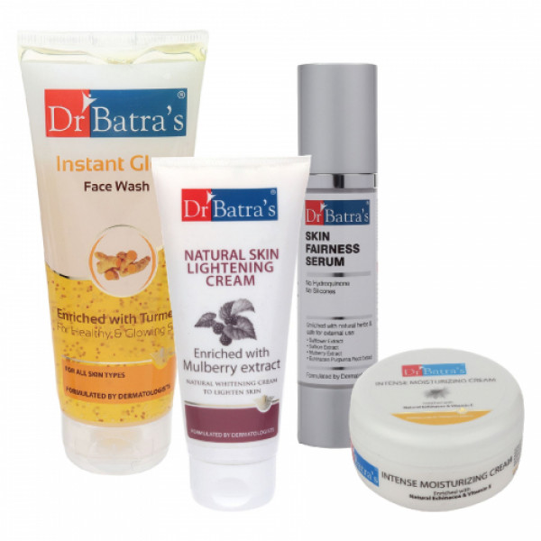 Dr Batra's Skin Serum, Face Wash Instant Glow, Natural Skin Cream with Moisturizing Cream