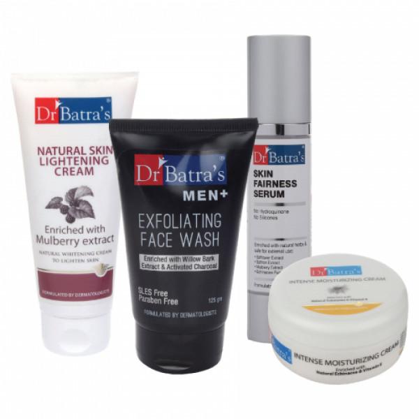 Dr Batra's Skin Serum, Men Face Wash, Natural Skin Cream, 100gm with Moisturizing Cream