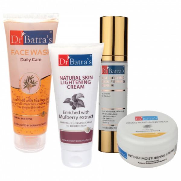 Dr Batra's Face Wash Daily Care, Serum, Natural Skin Cream with Intense Moisturizing Cream
