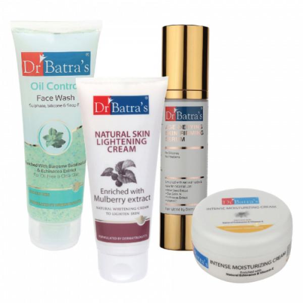 Dr Batra's Serum, Face Wash Oil Control, Natural Skin Cream with Intense Moisturizing Cream
