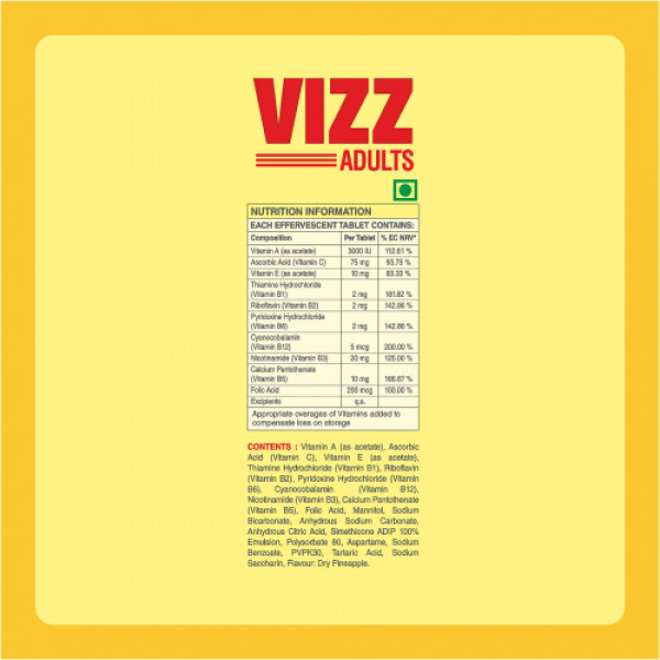 Coral's Vizz Adult Multivitamin Effervescent, 20 Tablets