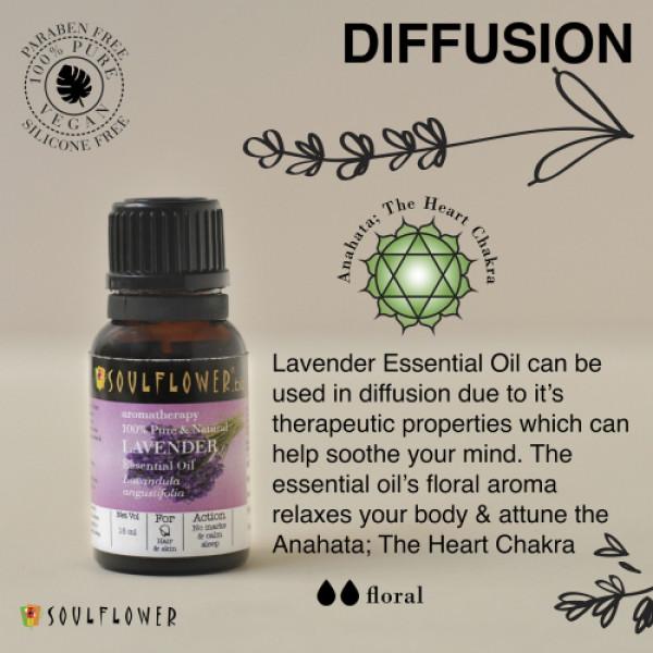 Soulflower Lavender Essential Oil, 15ml