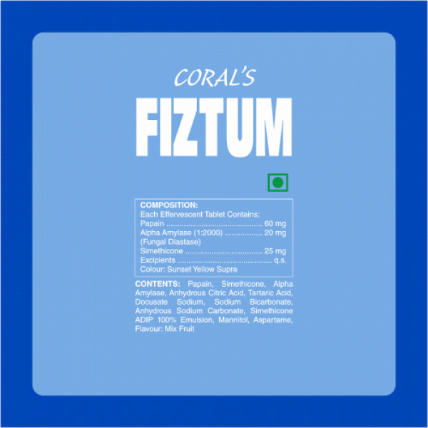 Coral's Fiztum Effervescent, 10 Tablets